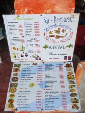 fotografío las cartas de los menús de varios restaurantes