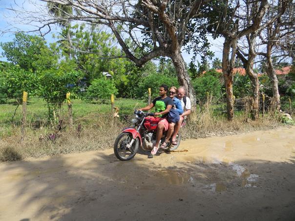 Concheando en moto-concho