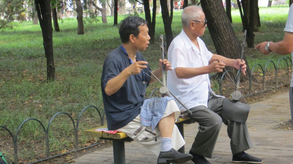 El Erhu es el vio´lín tradicional chino
