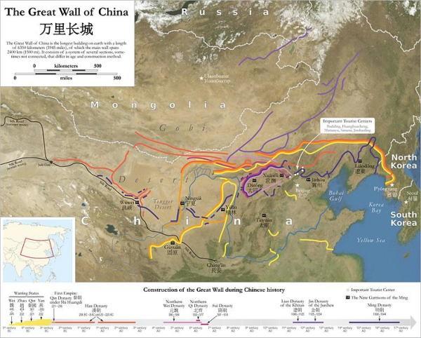 mapa de muralla china